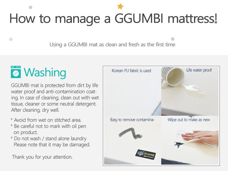 how to manage ggumbi mattress